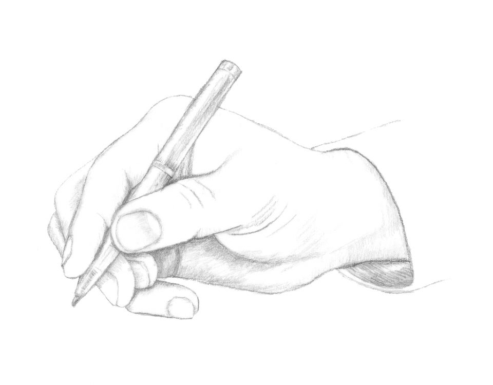 Writing Hand illustration